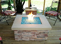 Liquid Glass Fire Pit